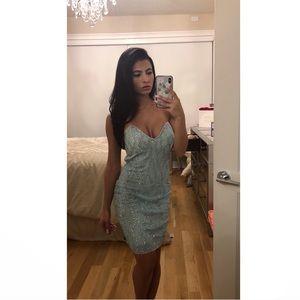 Holt Miami Blue Crystal Dress